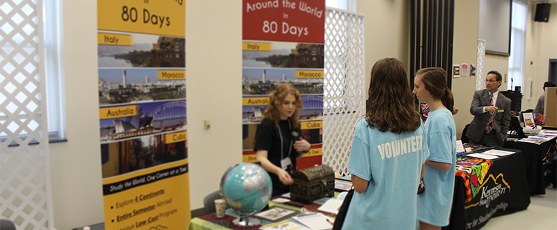 Volunteers at the Education Abroad Fair