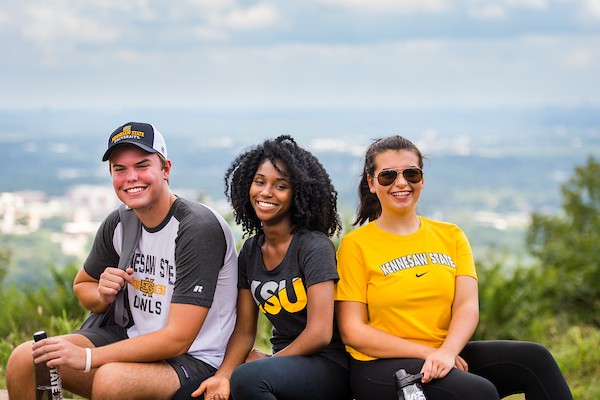 Students on Kennesaw Mountain