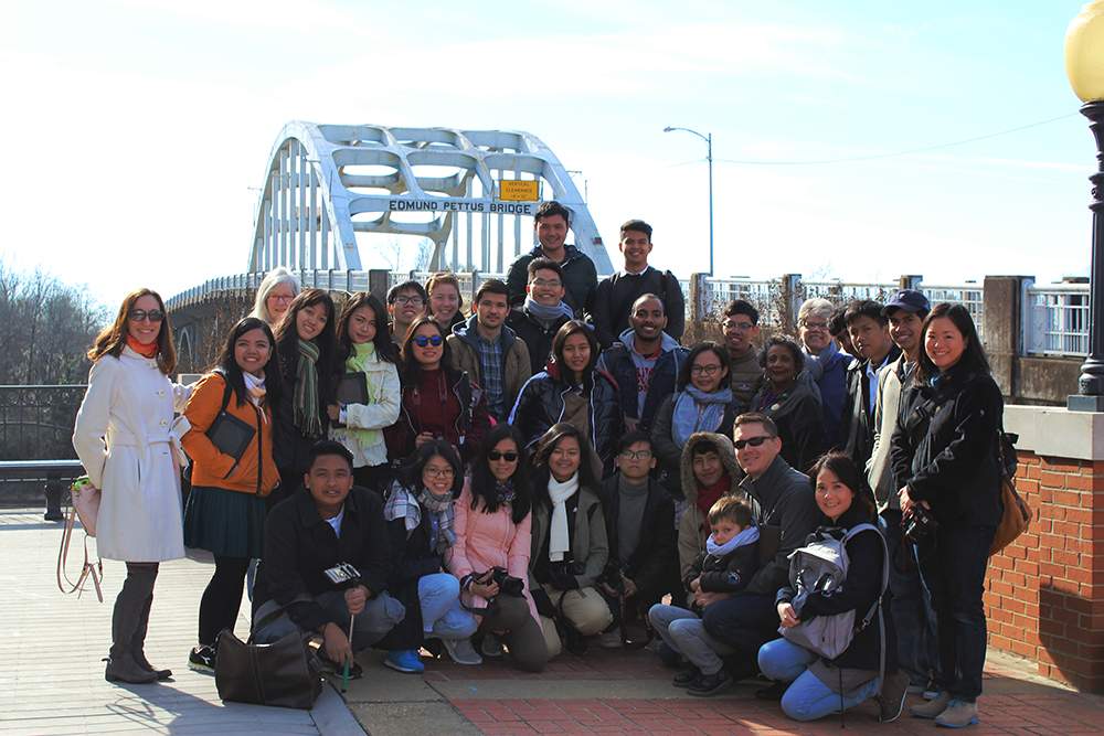 YSEALI students in Selma, Ala