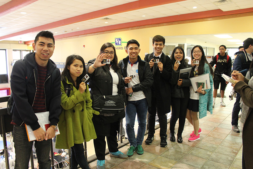 YSEALI Fellows receiving ID cards